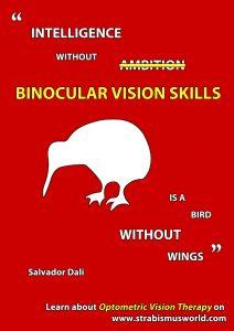 intelligence without binocular vision skills
