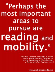 reading and mobility